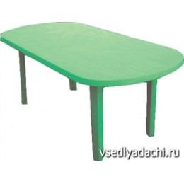 Стол пласт. овал. 1400х800х710 Зеленый