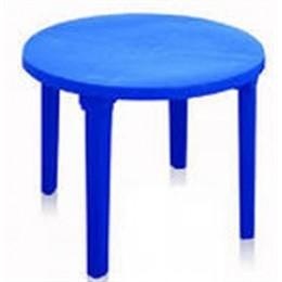 Стол пласт. круглый синий