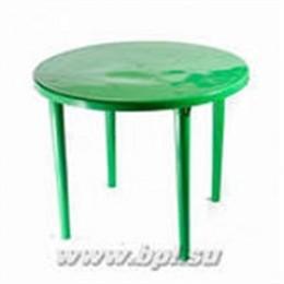 Стол пласт. круглый зеленый